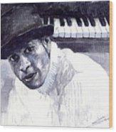 Jazz Roberto Fonseca Wood Print by Yuriy  Shevchuk