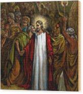 Jesus Betrayed Wood Print by John Lautermilch