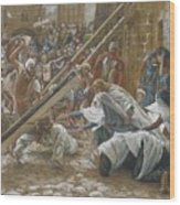 Jesus Meets His Mother Wood Print by Tissot