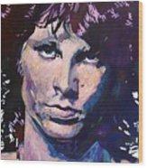 Jim Morrison The Lizard King Wood Print by David Lloyd Glover