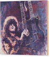 Jimmy Page  Wood Print by Yuriy  Shevchuk