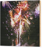 Joe's Fireworks Party 2 Wood Print by Charles Harden
