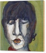 John Lennon As An Elf Wood Print by Mindy Newman