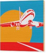 Jumbo Jet  Wood Print by Aloysius Patrimonio