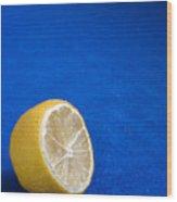 Just A Lemon Wood Print by Steve Outram