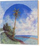 Ke'e Palm Wood Print by Kenneth Grzesik