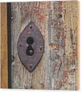 Key Hole Wood Print by Carlos Caetano