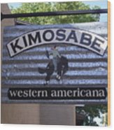 Kimosabe Wood Print by Mary Rogers