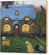 Kinkade's Worst Nightmare 2  Wood Print by Leah Saulnier The Painting Maniac
