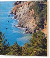 Kirby Cove San Francisco Bay California Wood Print by Utah Images
