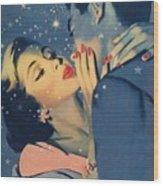 Kiss Goodnight Wood Print by English School