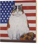 Kitty Ross Wood Print by Linda Mears
