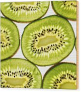 Kiwi Fruit II Wood Print by Paul Ge