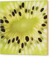 Kiwi Fruit Wood Print by Paul Ge