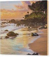 Koki Beach Sunrise Wood Print by Inge Johnsson