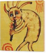 Kokopelli Watches Wood Print by Carol Suzanne Niebuhr
