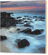Koloa Dawn Wood Print by Mike  Dawson