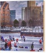 Labatt Pond Hockey 2011 Wood Print by Don Nieman