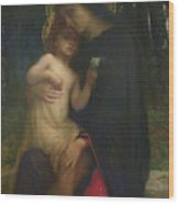 Laddolorata Wood Print by Antoine Auguste Ernest Herbert or Hebert