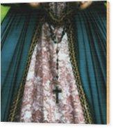 Lady With Rosary Wood Print by Joana Kruse