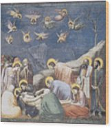 Lamentation Wood Print by Giotto Di Bondone