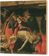 Lamentation Of Christ Wood Print by Sandro Botticelli