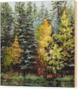 Last Call Wood Print by Mary Giacomini