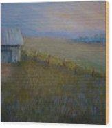 Last Farm Light Wood Print by Susan Jenkins