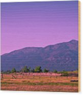 Late Afternoon In Taos Wood Print by David Patterson