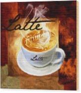 Latte Wood Print by Lourry Legarde