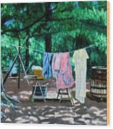Laundry Day 1800 Wood Print by Stan Hamilton