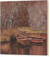 Le Barche Sullo Stagno Wood Print by Guido Borelli