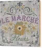 Le Marche Aux Fleurs 1 Wood Print by Debbie DeWitt
