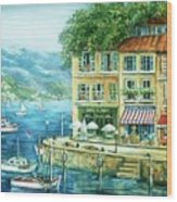 Le Port Wood Print by Marilyn Dunlap