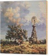 Lea County Memories Wood Print by Wanda Dansereau