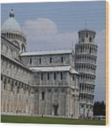 Leaning Tower Of Pisa Wood Print by Joseph R Luciano