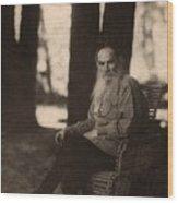 Leo Tolstoy 1828-1910 Russian Novelist Wood Print by Everett