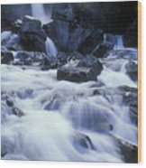 Liberty Falls And River In Liberty Wood Print by Rich Reid