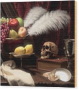 Life And Death In Still Life Wood Print by Tom Mc Nemar