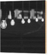 Light Bulbs Wood Print by Carl Suurmond