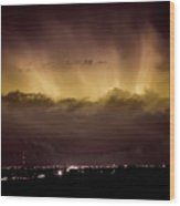 Lightning Cloud Burst Boulder County Colorado Im29 Wood Print by James BO  Insogna