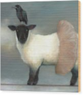 ...like Lambs.. Wood Print by Katherine DuBose Fuerst