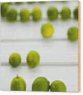 Lime Green Wood Print by Skip Hunt