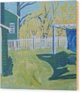 Line Of Wash Wood Print by Debra Robinson