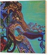 Lion Gargoyle Wood Print by Genevieve Esson