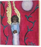 Little Angel Wood Print by Pilar  Martinez-Byrne