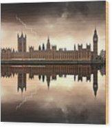 London - The Houses Of Parliament  Wood Print by Jaroslaw Grudzinski