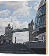 London Tower Bridge Wood Print by Dawn OConnor