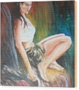 Loneliness Makes The Beauty Wood Print by Sumanta Bose