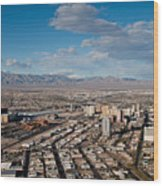 Looking Over Downtown Wood Print by Andy Smy